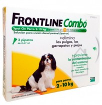 Frontline combo 3 pipetas spot-on