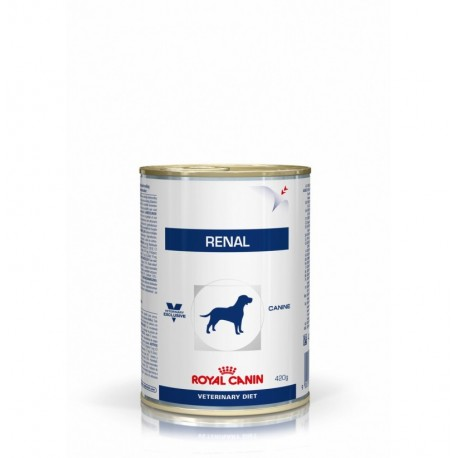 Royal canin wet canine renal lata