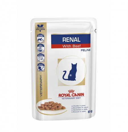 Royal canin wet feline renal (ternera) sobre