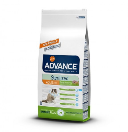 Advance gato esterilizado sterilized (pavo y cebada)