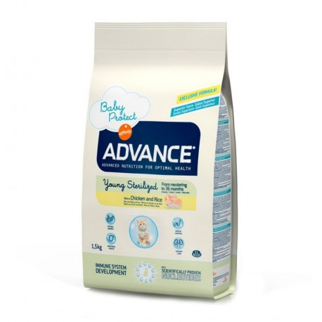 Advance gato joven esterilizado young sterilized (pollo y arroz)