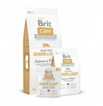 Brit care grain free senior&light (salmón y patata)