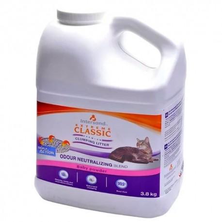 Extreme classic garrafa arena aglomerante olor a talco bebé para gatos