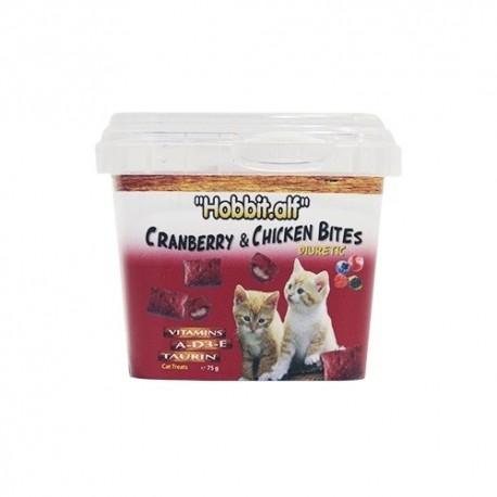 Hobbitalf snack diurético frutos rojos y pollo gatos para gato