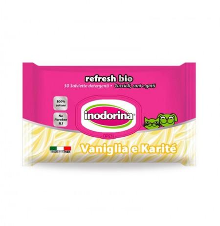 Inodorina refresh bio toallitas vainilla y karité
