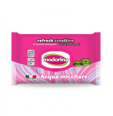 Inodorina refresh sensitive toallitas agua micelar