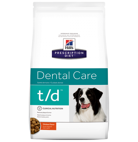 Hill's prescription diet canine t/d dental care sabor pollo