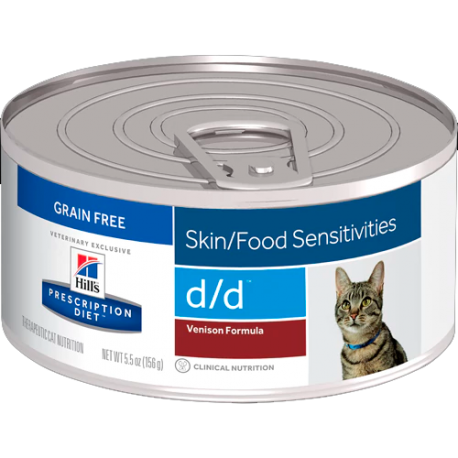 Hill's prescription diet feline d/d venado (lata)