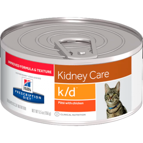 Hill's prescription diet feline k/d paté con pollo (lata)