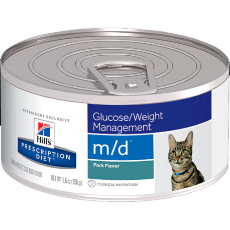 Hill's prescription diet feline m/d sabor cerdo (lata)