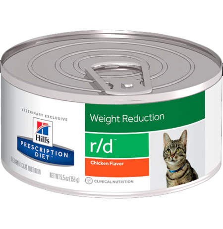 Hill's prescription diet feline r/d sabor pollo (lata)