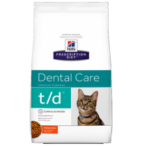 Hill's prescription diet feline t/d dental care sabor pollo