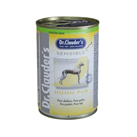 Lata sensible puro pollo dr.clauder's para perros sensibles