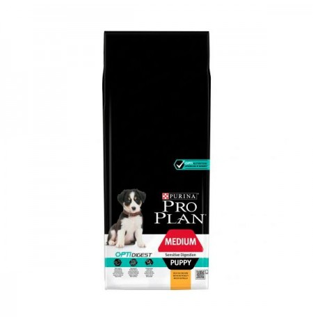 Purina pro plan digestión sensible puppy mediano pollo