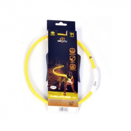 Collar led nylon usb amarillo duvo seecurity