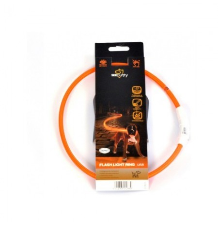Collar led nylon usb naranja duvo seecurity