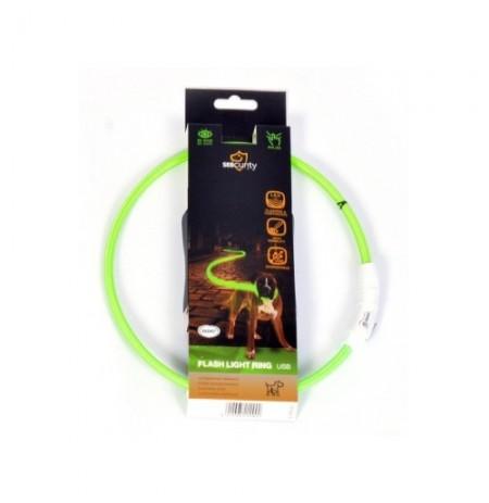 Collar led nylon usb verde duvo seecurity