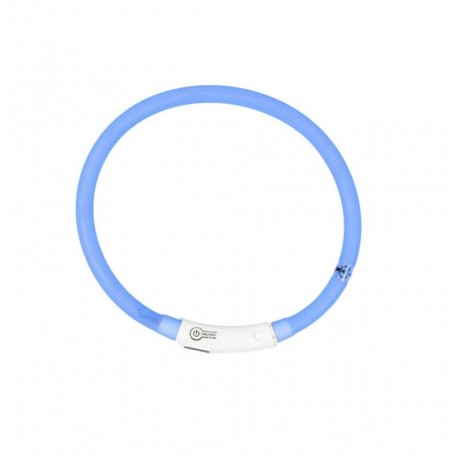 Collar led silicona usb azul duvo seecurity