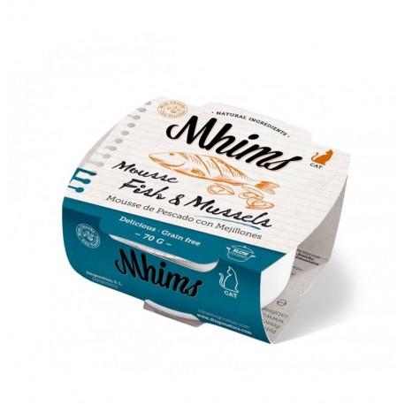 Mhims mousse pescado blanco con mejillones para gato