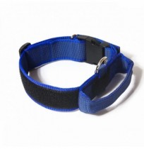 Collar julius-k9 con asa azul - color & gray
