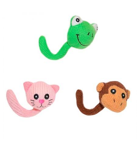 Surtido aleatorio de juguetes de animales con cola para gatos