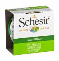 Schesir filetes de pollo latas para gato
