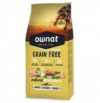 Ownat prime junior grain free pollo y pavo para cachorros
