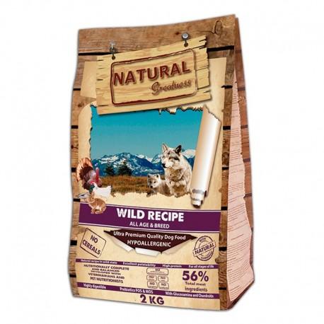 Natural greatness Wild salvaje conejo y aves para perros