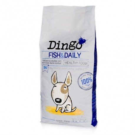 Saco pienso Dingo Fish & Daily de pescado para perros de Dingonatura