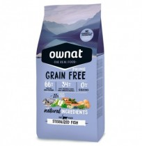 Ownat cat prime grain free sterilized para gatos (pescado)