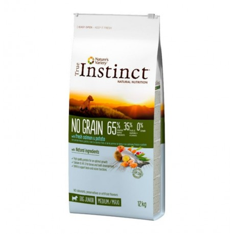 True instinct no grain puppy salmón medium - maxi para cachorros