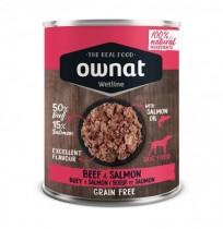 Ownat buey y salmón latas para perros