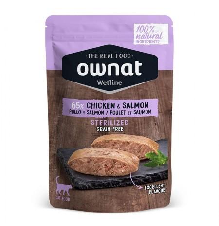 Ownat pollo y salmón sobrecitos para gatos