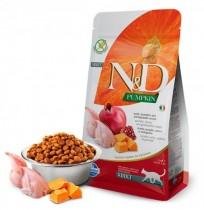 Farmina n&d feline pumpkin codorniz para gatos adultos