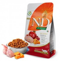 Farmina n&d feline pumpkin neutered codorniz para gatos esterilizados