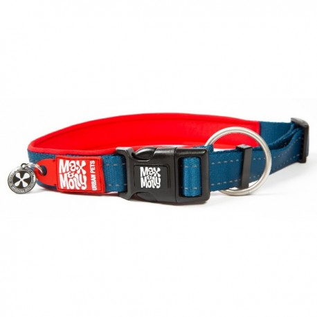 Max & molly collar matrix red para perros
