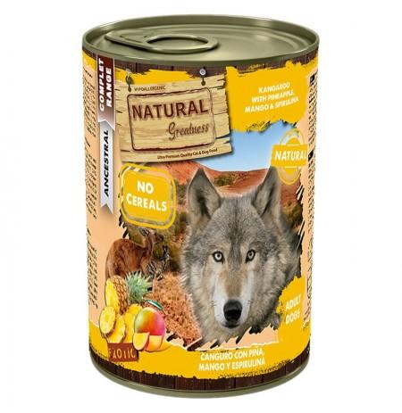 Natural greatness canguro con piña latas para perros