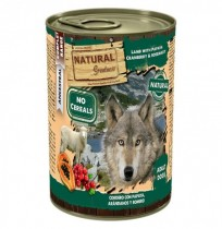 Natural greatness cordero con papaya latas para perros