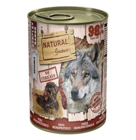 Natural greatness pavo latas monoproteicas para perros