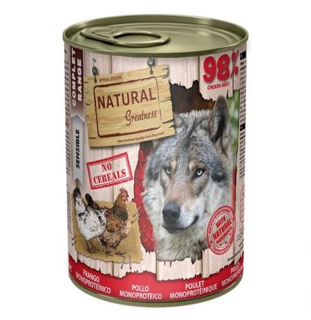 Natural greatness pollo latas monoproteicas para perros