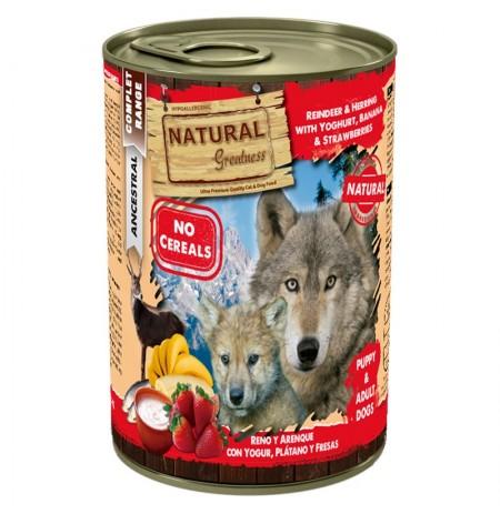 Natural greatness reno y arenque para perros
