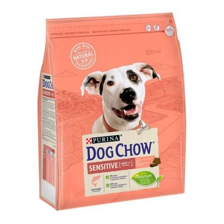Dog chow sensitive de salmón para perros