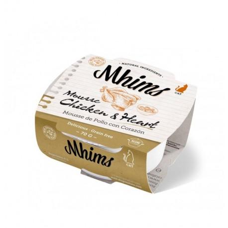 Mhims mousse pollo con corazón para gato