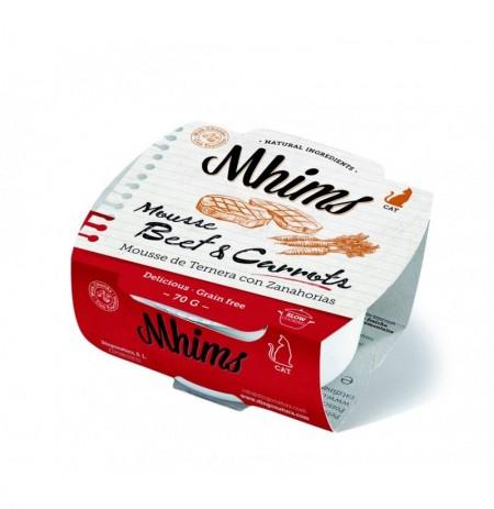 Mhims mousse ternera con zanahorias para gato