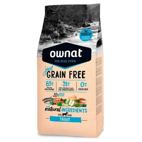 Ownat just grain free trucha para perros adultos