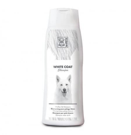 Champú pelo blanco para perros m-pets