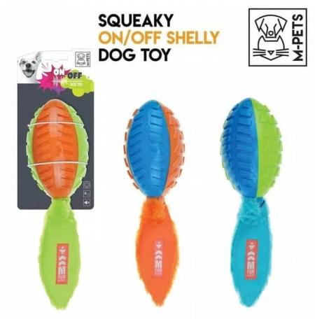 Juguete shelly on-off con silenciador m-pets para perros