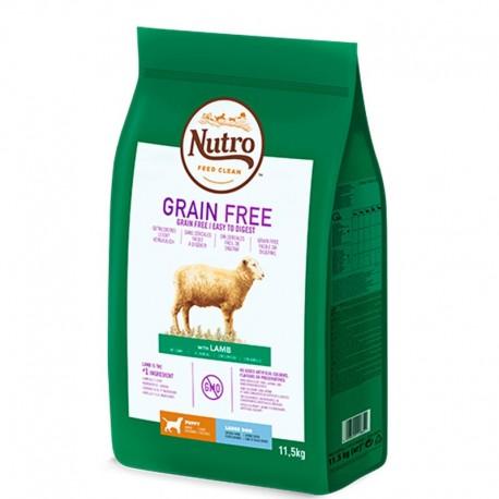 Nutro grain free cachorro razas grandes de cordero