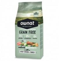 Ownat prime adult grain free pollo y pavo para perros