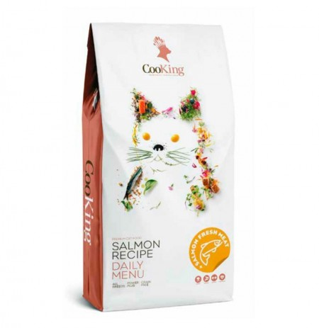 Cooking salmón cat adult grain free para gatos